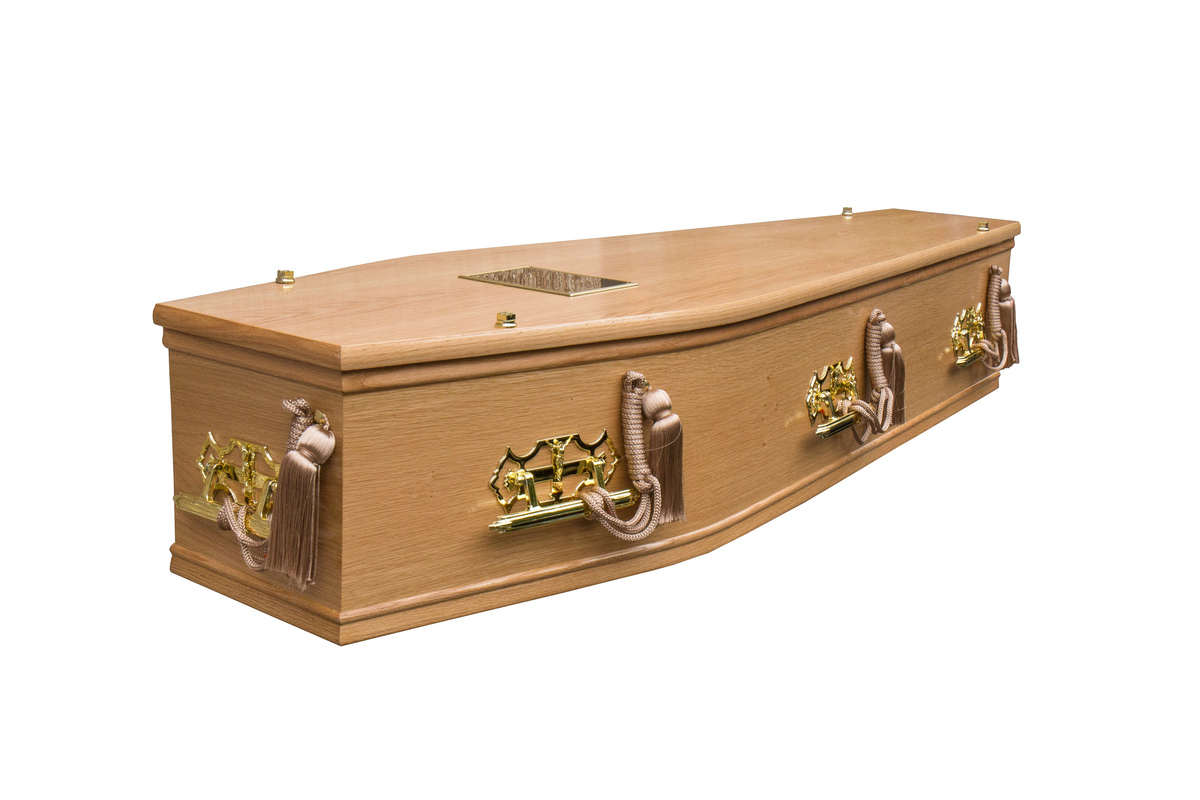 Waxed Jura Burial Coffin