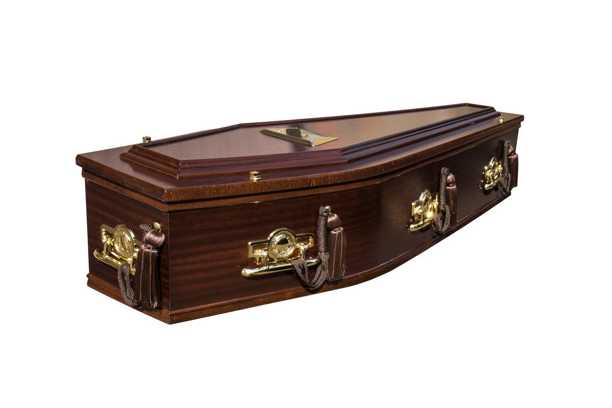 Mahogany Iona Burial Coffin
