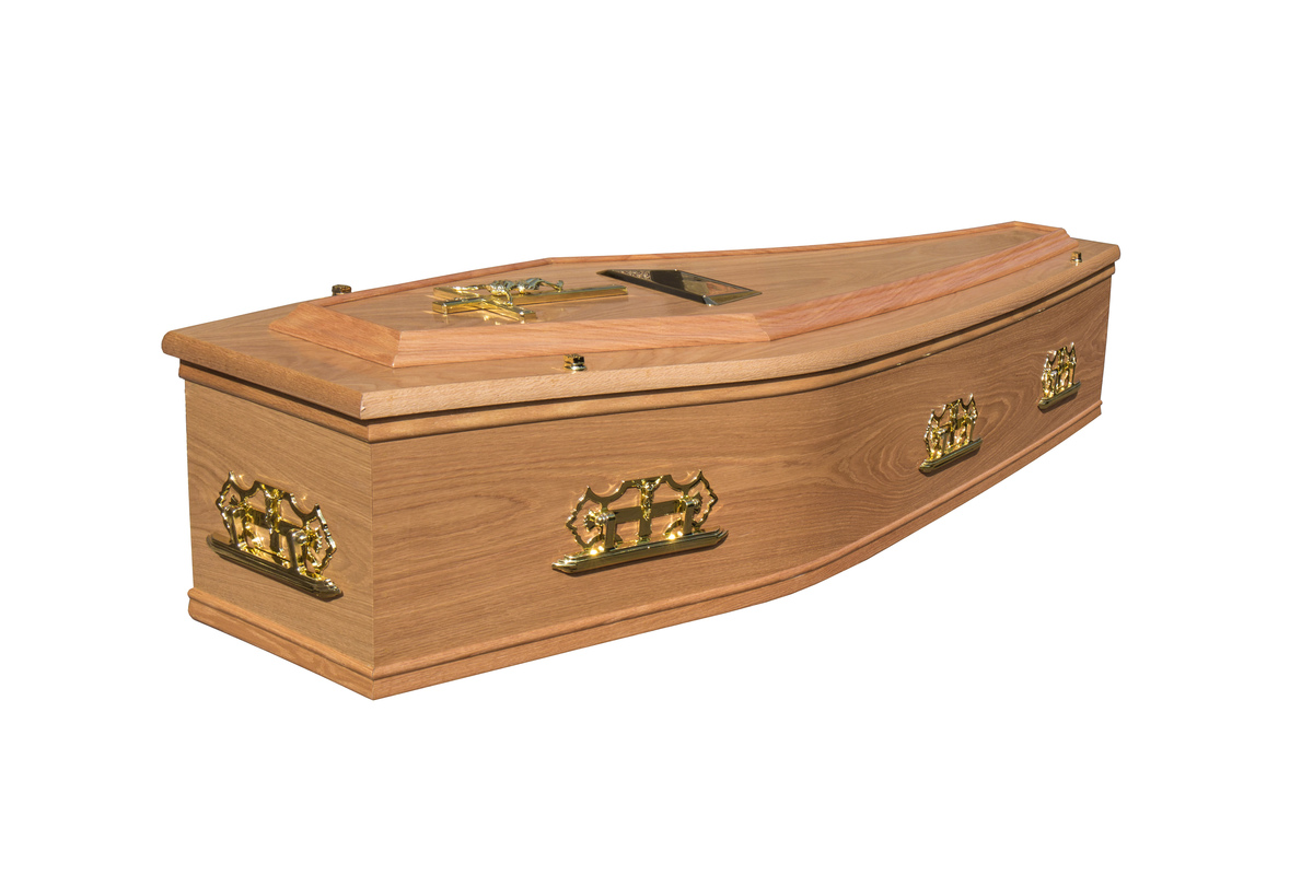 Waxed Mull Cremation Coffin