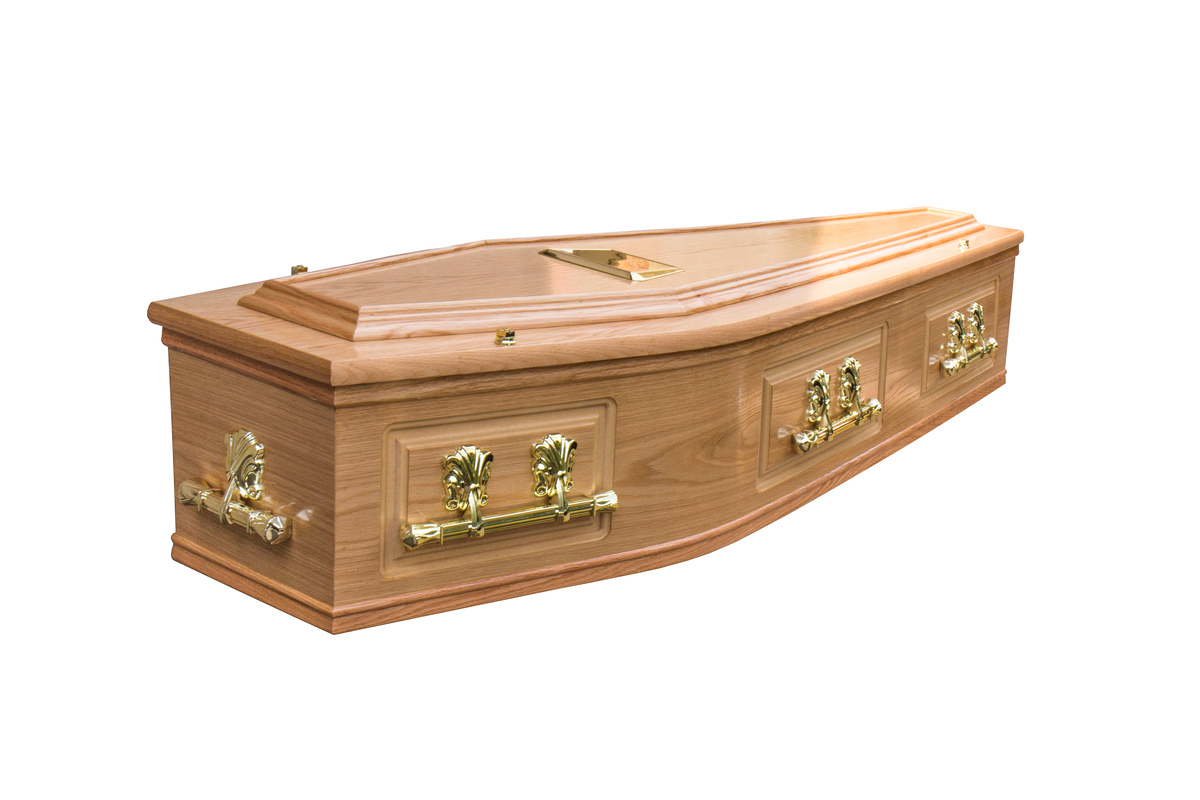 Waxed Coll Cremation Coffin
