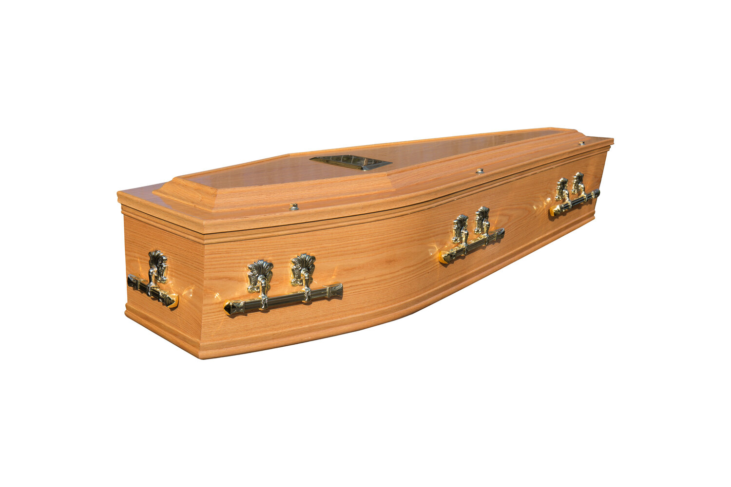 Waxed Raised Lid Cremation Coffin