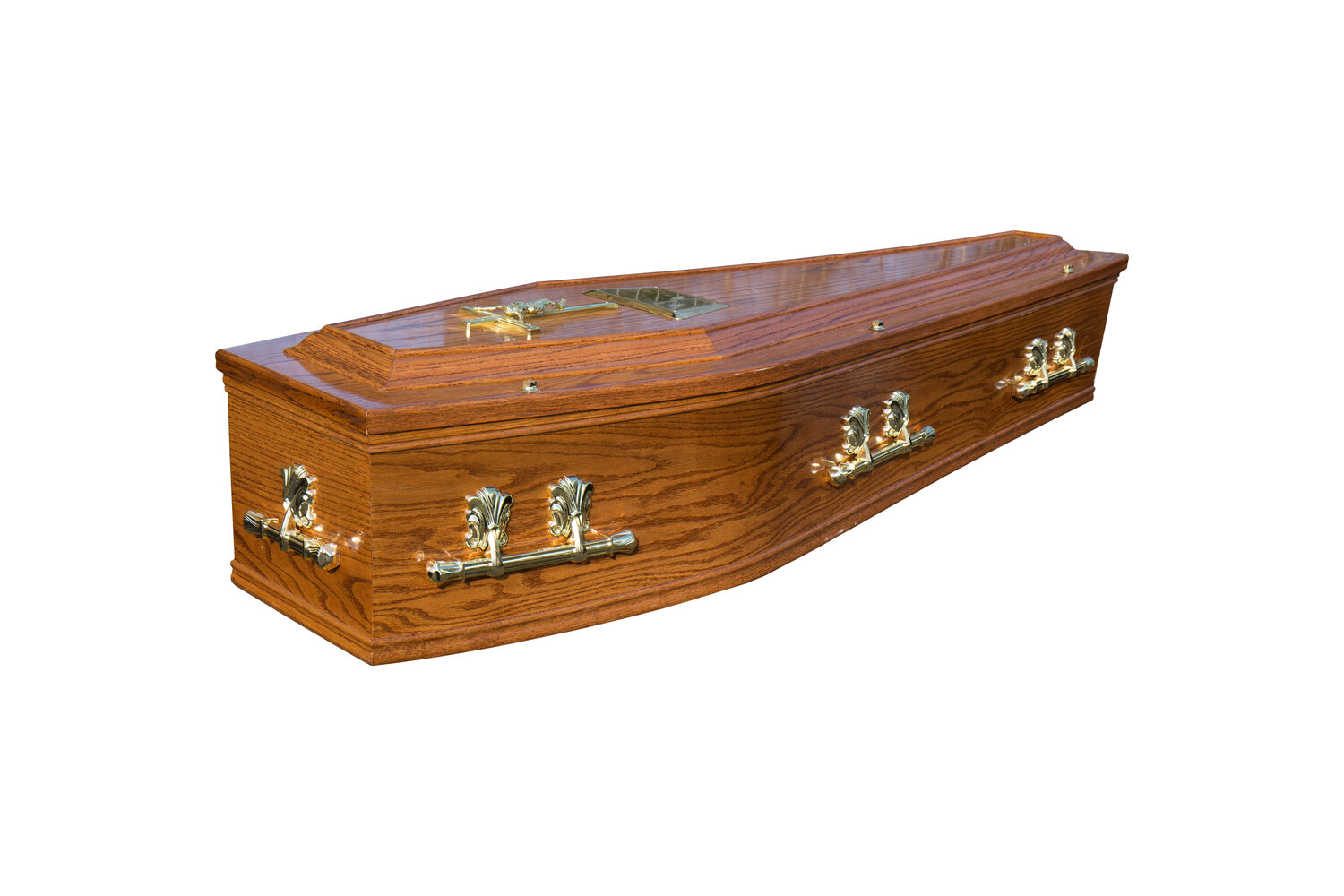 Honey Raised Lid Cremation Coffin